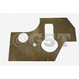 Placa Soporte de plato sonda inyección en Aluminio